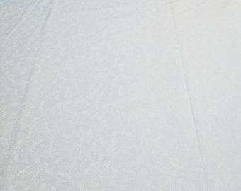 White on White Snowmen Cotton Fabric