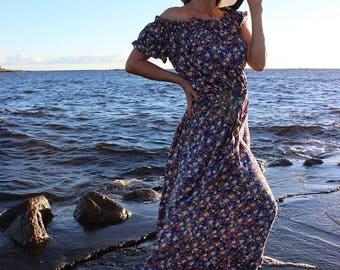 длинное платье, летнее платье, long dress, summer dress