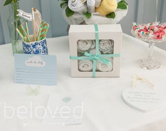 Baby Clothes Cupcakes - Cupcake Onesies - Cupcake Boxes - Baby Shower Onesie Cupcakes by Beloved Creations - Free UK Delivery