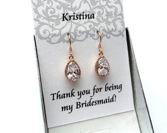 Bridesmaid jewelry Bridesmaids gifts Bridesmaids earrings Wedding Earrings Teardrop Drop earrings Bridal Earrings Crystal Wedding Jewelry Jm