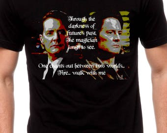 Mens & Women Through The Darkness Of Futures Past T Shirt Twin Peaks Shirt Twin Peaks The Return Dougie Jones Dale Cooper Agent Cooper TH310