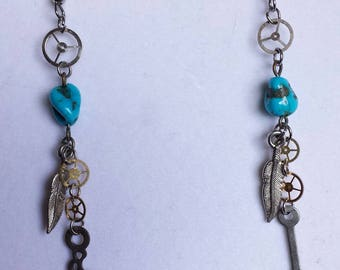 Steampunk Turquoise Earrings