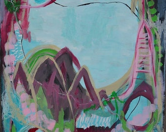 Abstract art, original art, wall painting, mixed media. wall art, modern, mixed media