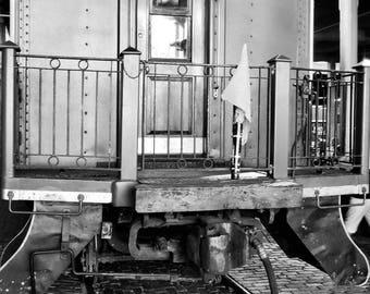 Black and White Train Photo Print