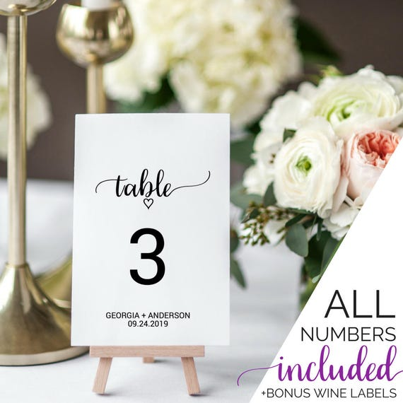 wedding table numbers rustic wine bottle table numbers printable