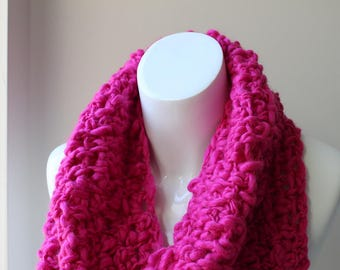 Pink chunky scarf