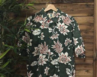 Hawaiian Shirt Camisa Hawaina 90s Vintage Kahala Hawaii Mahalo Vintage Store