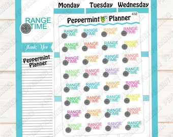 Range Time -- Planner Stickers -- 432