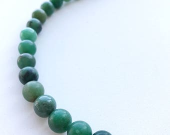Earthy Zen Green Jasper Round Beads 10mm