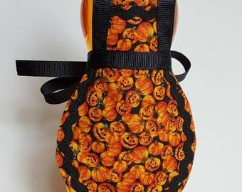 Halloween soap apron, jack-o-lantern, pumpkin decor, dish soap apron, Halloween decor, pumpkin kitchen decor, soap bottle apron, fall decor