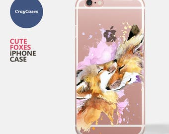 iPhone 7 Case, Cute Foxes iPhone 6s Case, Foxes iPhone 6 Case, Foxes iPhone 6/s Plus Case (Shipped From UK)
