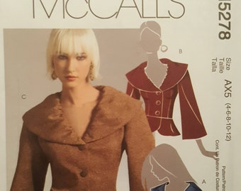 McCall's Paper Pattern - M5278 - Misses Lined Jacket