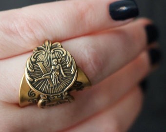 Vintage Zodiac Ring- Virgo