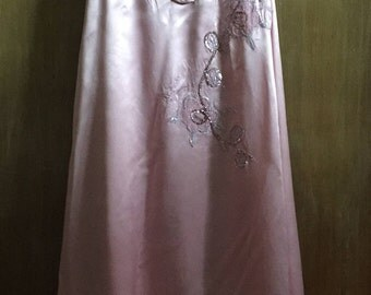 Vintage Handmade Womens Theatre Dress size large sequins and silk