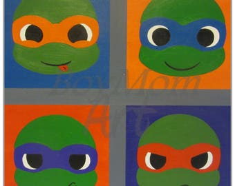 Turtle Pop! - PRINT - 12x12 - matted