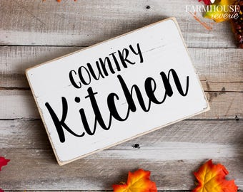 Great Country Kitchen Sign | Rustic Sign | Farmhouse Decor | Country Sign |  Rustic Decor |