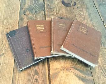 Set of 4 Macmillan's Pocket American and English Classics/1914,1915,1916,1927 Editions of Macmillan's Student Readers