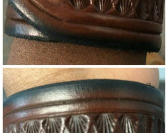 "1&1/4"" Brown Border Line Cuff"