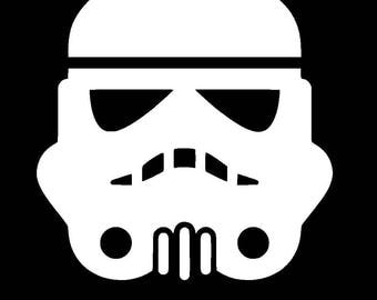 Star Wars Storm Trooper Vinyl Decal | Star Wars | Yeti Cup Decal | Car Window Sticker | Laptop Decal |