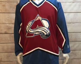 Vintage NHL Hockey Colarado Avalanche Jersey by Starter Jersey
