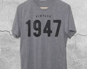 70th Birthday Gifts For Women & Men - Vintage 1947 / 1948 Shirt - 70th Birthday Shirt - 70th Birthday Graphic Tee - 70th Birthday T-Shirt