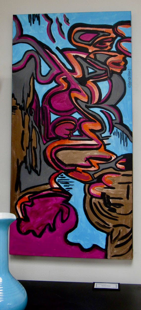 """Abstract Painting """"Another Time"""""""