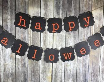 Happy Halloween Banner, Halloween Sign, Halloween Decoration, Fall Sign, Fall Decoration, Autumn Decoration