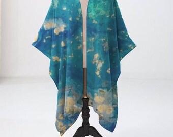 Ladies chiffon evening kimono jacket