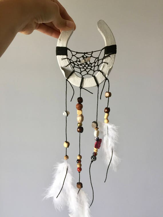 Spirit Dreamcatcher, Dreamcatcher, Horseshoe Dreamcatcher, Horseshoe, Horse, Equestrian, Rustic Decor, Boho Chic, Bohemian, Beads, Feathers