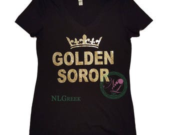 AKA Golden Soror Top Crown TShirt |  Alpha Kappa Alpha Sorority