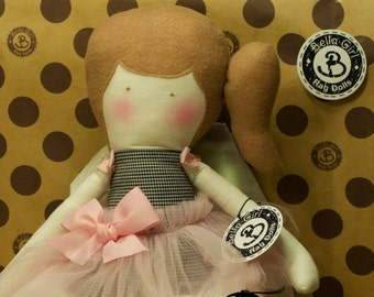 Hand made Rag Doll with Tutu on sale