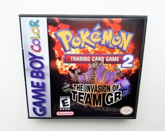 Pokemon Trading Card Game 2  w/ Custom Case English Translated Custom - Game Boy Color (GBC) / GBA Nintendo - Invasion of Team GR