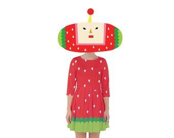 Ichigo Dress - Katamari Dress Katamari Cousins Dress Cosplay Dress Katamari Damacy Smock Dress Plus Size Dress Video Game Dress Ichigo Dipp