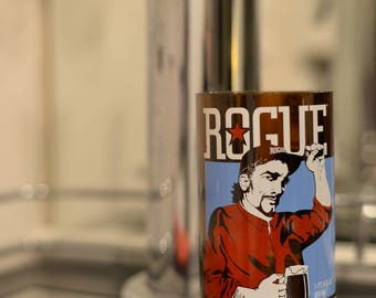 16 oz Pint glass made from rogues brewery's Mocha Porter