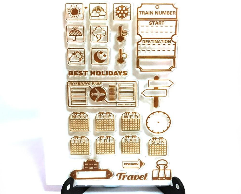 Calendar Stamp Bullet Journal : Bullet journal stamp days of the week clear transparent