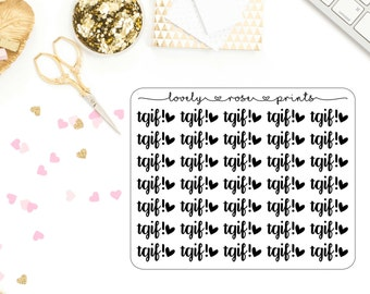 Tgif! Functional Planner Stickers