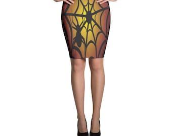 Spider web skirt, spider skirt, Halloween Skirt
