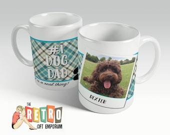Dog Dad Mug, Custom Photo Mug, Coffee Mug, Dog Owner Gift, Dog Mug, Dog Lover Gift, I Love My Dog, Mug for Dad