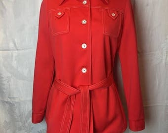 350. ALEX COLMAN- Red Belted Shirt