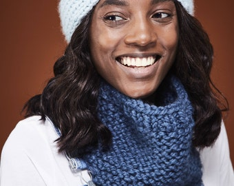 Headband and Scarf Valentine's Day Gift Set / Womens Knit Headband Bandana Scarf and Twist Chunky Knit Headband / 12 Colors // Free Shipping