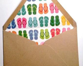 Sandals Lined Envelopes
