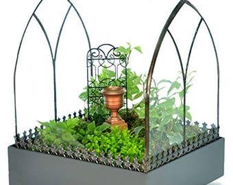 Large Glass Terrarium, Wardian Case, Succulent Plant Container, Planter Box, H Potter Terrarium, Wedding Centerpiece, Fairy Garden, Gift