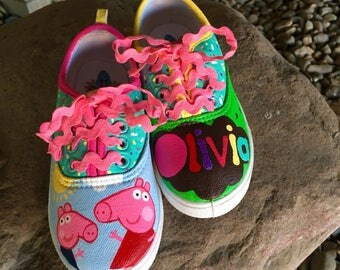 Personalized Kids Shoes - Peppa Pig Sneakers