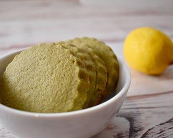 Green Tea & Lemon Shortbread Cookies