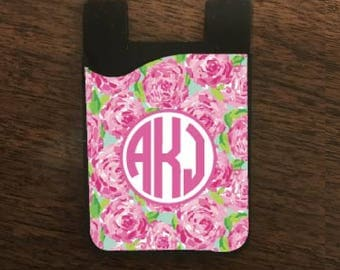 Rose Cell Phone Card Holder, Cell Phone Caddy, Cell Phone Pocket, Caddy, Card Holder, Cell Phone Accessories
