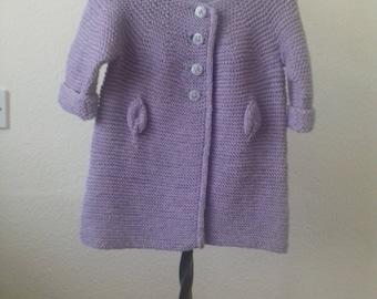 Girl's knitted coat