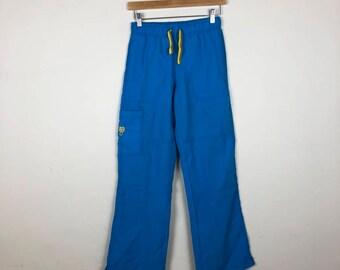 Vintage Blue Pants Size XS, Sporty Track Pants, Blue Track Pants, Women's Track Pant