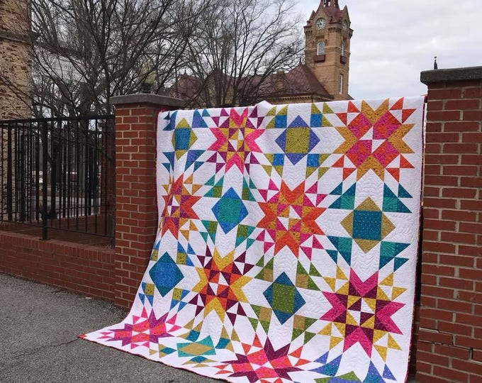 Featured listing image: Wyoming Wind Quilt Pattern (Multiple Sizes)