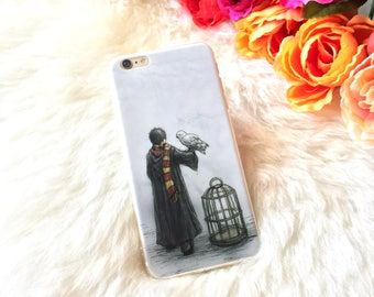Harry Potter Case iPhone 7 6s 6 Plus Clear Phone Case Harry Potter Phone Case Gift for Her Best Friend Top phone iPhone Clear Silicone Case
