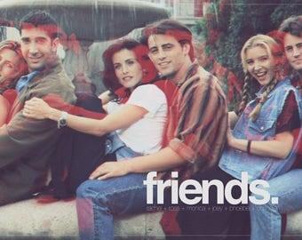 FRIENDS TV Show Poster // TV + Movie Alternative Poster // Friends Retro Style Minimalist Poster Wall Art // Gift Idea